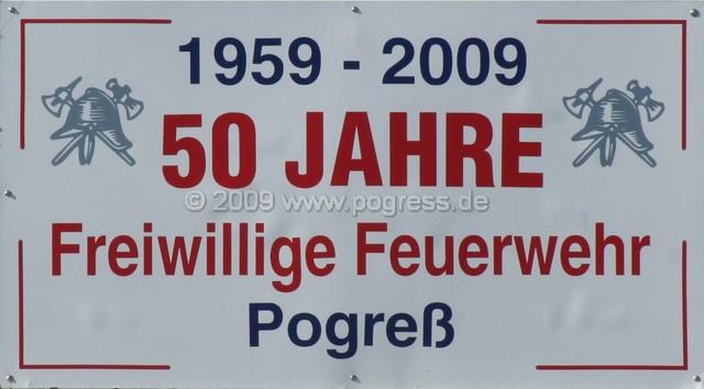 50 Jahre Freiwillige Feuerwehr Pogreß