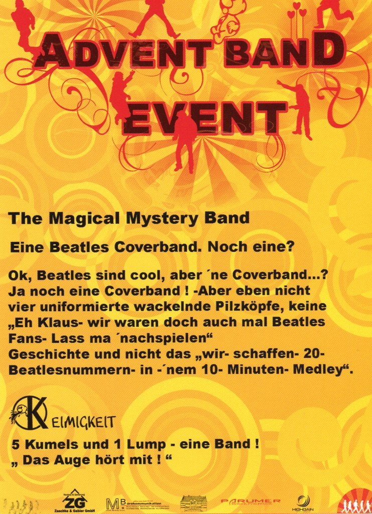 Advent Band Event Rückseite