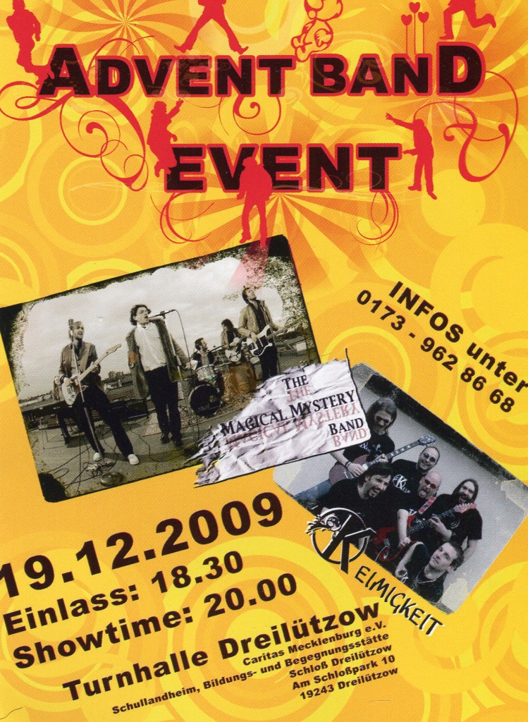 Advent Band Event Vorderseite